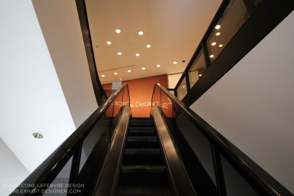 the-exhibit-designer_christine-lefebvre_Hirshhorn_Baselitz-escalator